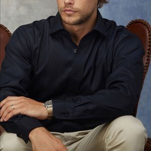 Lorenzo Uomo 'the perfect black shirt' Sz 15 34-35